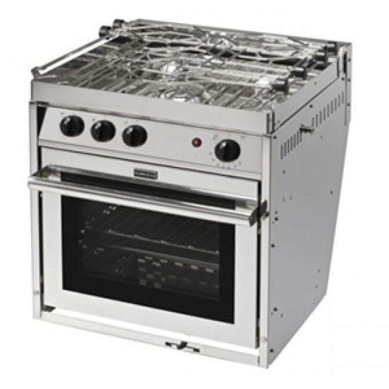 Cocina de Gas Can Inox 3 Fuegos con Horno y Grill
