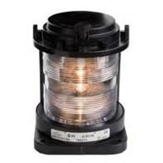 Luz de Navegacion Aquasignal S55 Carcasa negra señal TODO HORIZONTE