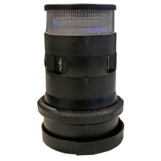 Luz de Navegacion Led Aquasignal S34 Carcasa Negra todo horizonte y Tricolor