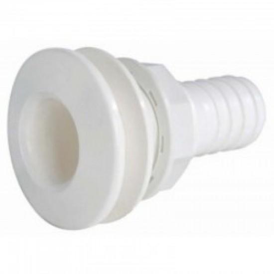 """PASACASCO EN PVC BLANCO 1""""x25mm"""