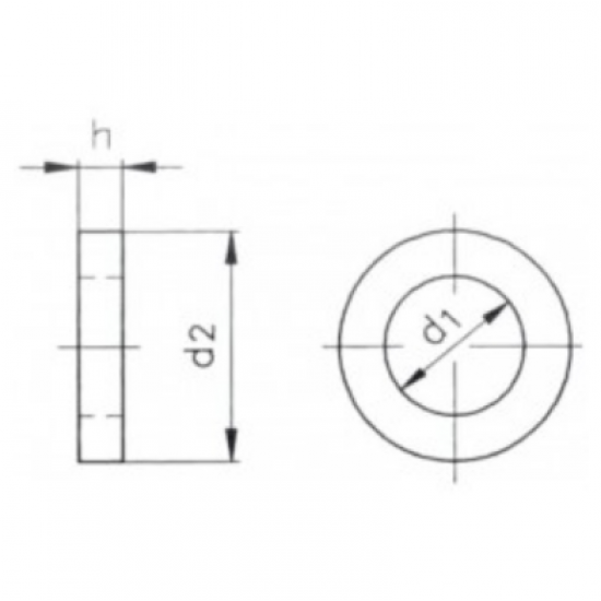 Tornillería - ARANDELA DIN9021 A4 M8 (10)