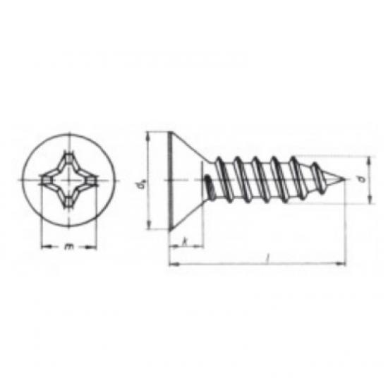 Tornillería - TORNILLO DIN7982 A4 4.8x13 (5)