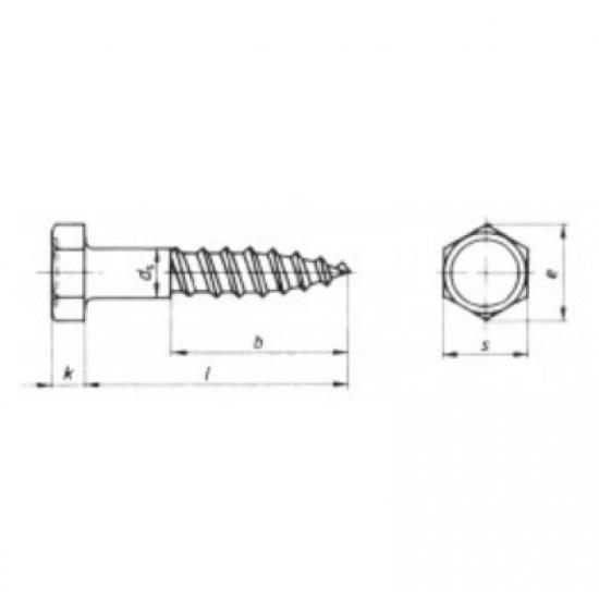 Tornillería - TIRAFONDO DIN571 A4 8x60 (2)