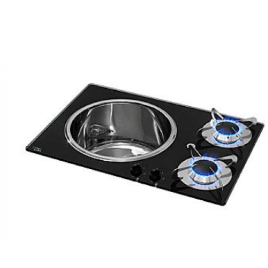 Cocinas - COCINA FREGADERO 2 FOGONES 300X180
