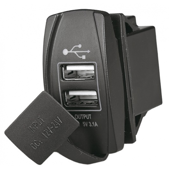 Interruptores - INTERRUPTOR DOBLE USB