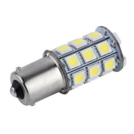 Bombillas - LAMPARA BA15S LED 12V AZUL 45x23