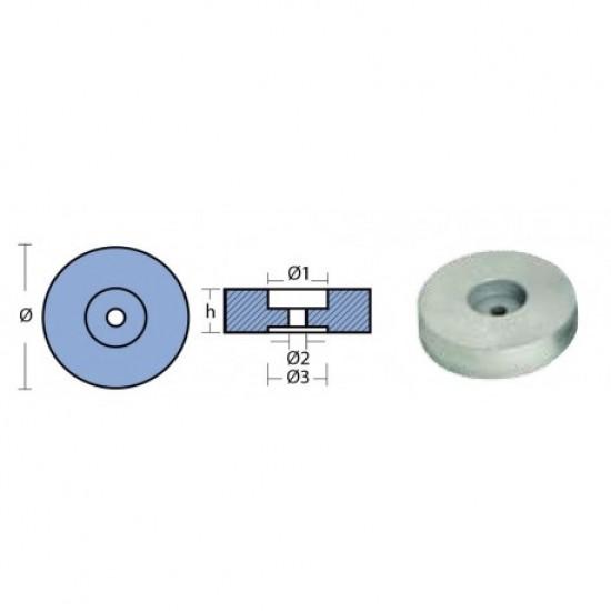 Anodos - Anodo de Transom 140x30 mm