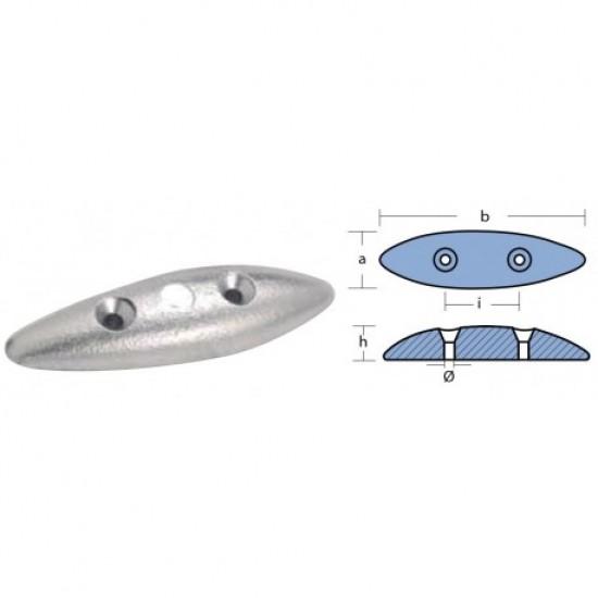 Anodos - Anodo de zinc Ovalado 145x60x20 mm