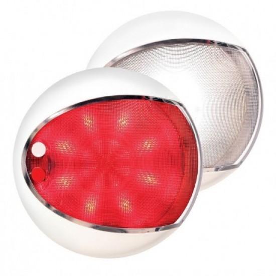 Iluminación - LUZ COFRE NEGRA LED BL/RED DIA130 9-33V