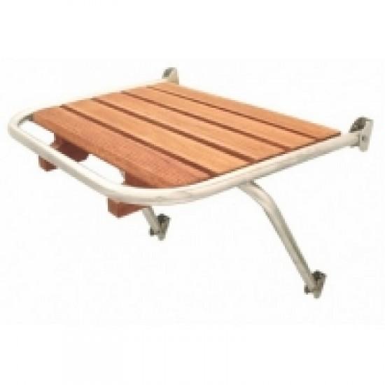 Plataformas - Plataforma popa inoxidable con madera 390x450mm