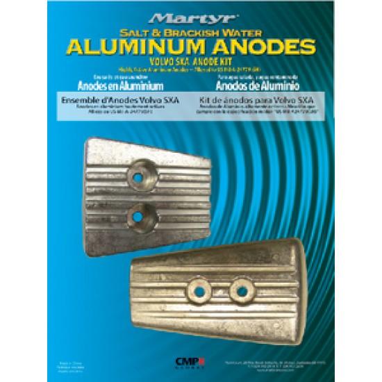 Kit ánodos aluminio Volvo Penta SX-A DPS