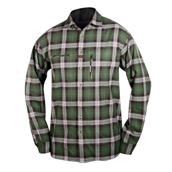 Camisas Ituren (Green / Grey - XXL)