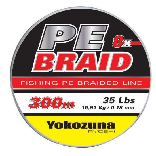 Líneas de pesca Yokozuna 8x Pe 3000 M (Grey - 0.180 mm)