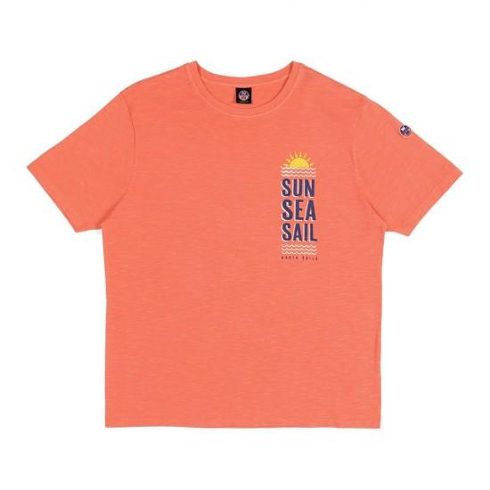 Camisetas Graphic (Coral Blue - XXL)