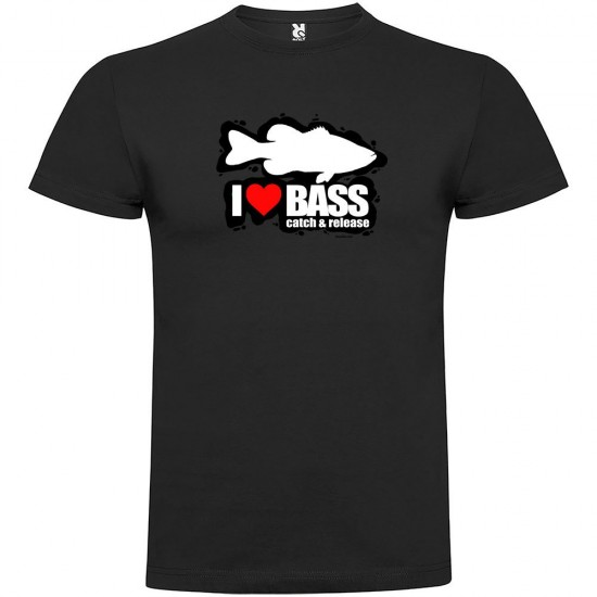 Camisetas I Love Bass (Black - L)