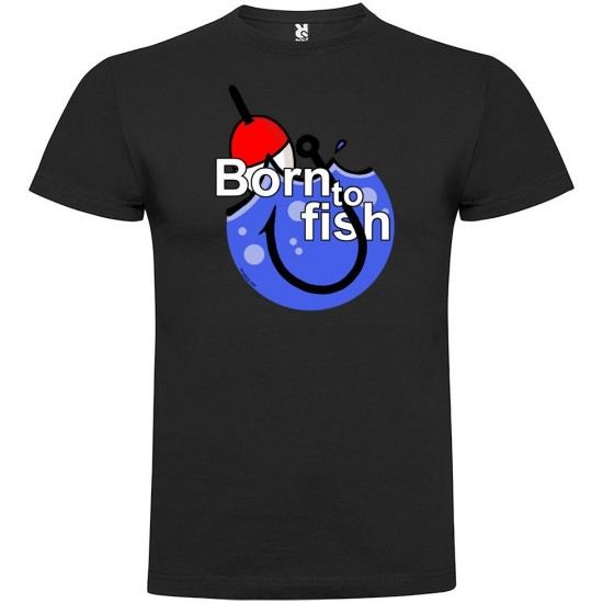 Camisetas Born To Fish Hook (Black - S)