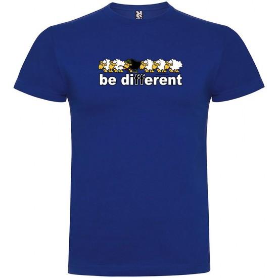 Camisetas Be Different Fish (Royal Blue - XL)