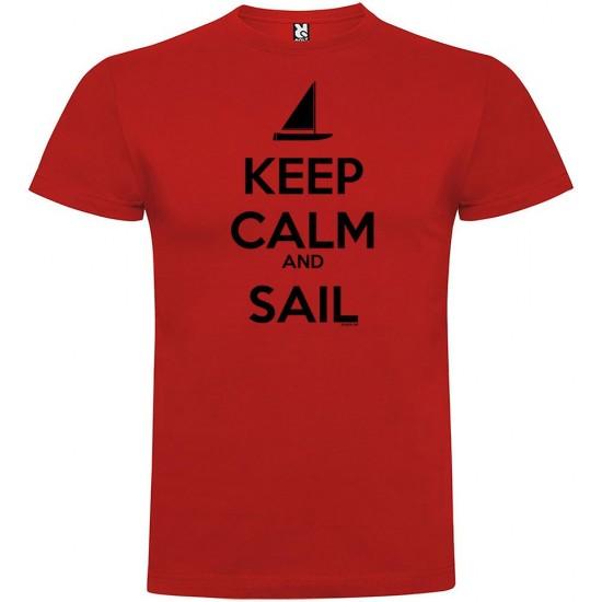 Camisetas Keep Calm And Sail (Red - XXL)