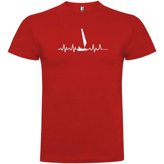 Camisetas Sailing Heartbeat (Red - L)