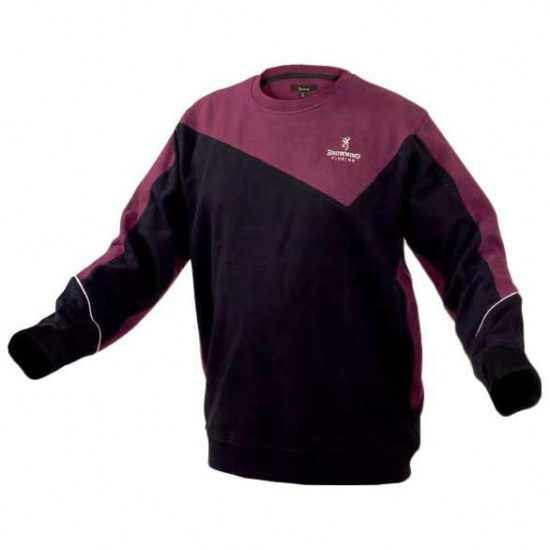 Sudaderas Sweat Shirt (Black / Burgundy - XXL)