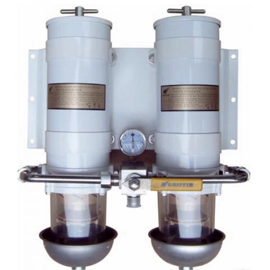 FILTRO GRIFFIN DOBLE DE GASOIL - SEPARADOR DE AGUA 454LPH