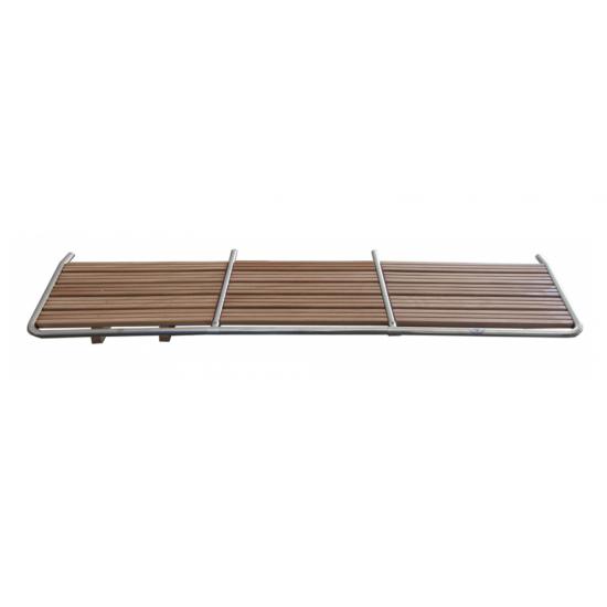 Plataforma popa inoxidable con madera 1800x550mm