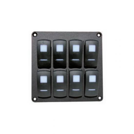 PANEL CON 8 (2X4) INTERRUPTORES MAGNETOTERMICOS-3131 IP65