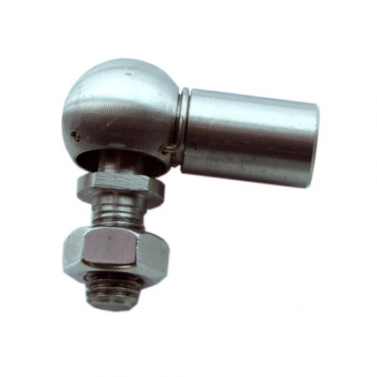 TERMINAL INOX GAS STRUT BALL JOINT TIPO MB M10