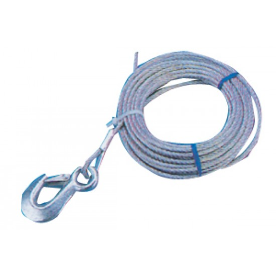 Cable Cabrestante 5 mm 6mt con gancho