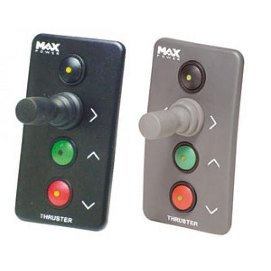 Panel de Control Negro Hélices de Proa MaxPower Retractiles y VIP 150