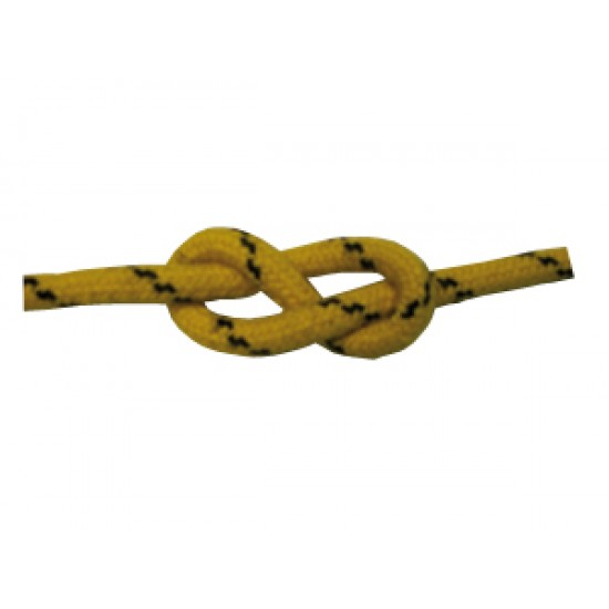 Escota Amarilla con Funda de Poliéster antideslizante 4 mm