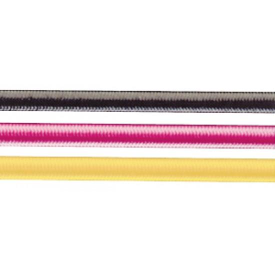 Cabo elastico de poliester 4 mm , Negro