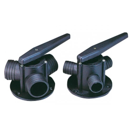 Valvula Marina de tres vias para manguera de 38 mm