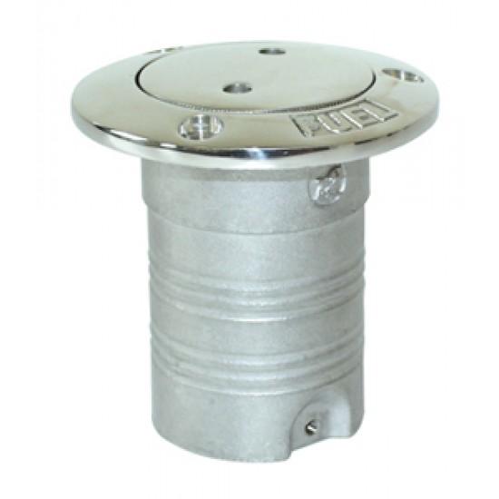 Boca de cubierta Inox para Combustible 50mm. Pulsador