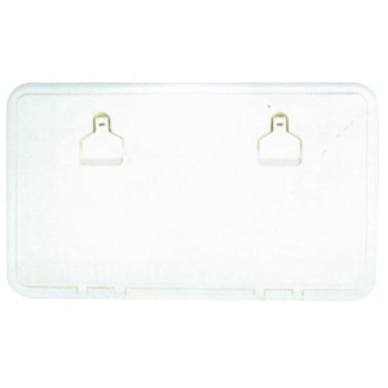 Portillo de PVC Blanco 600x350mm con cerradura inox