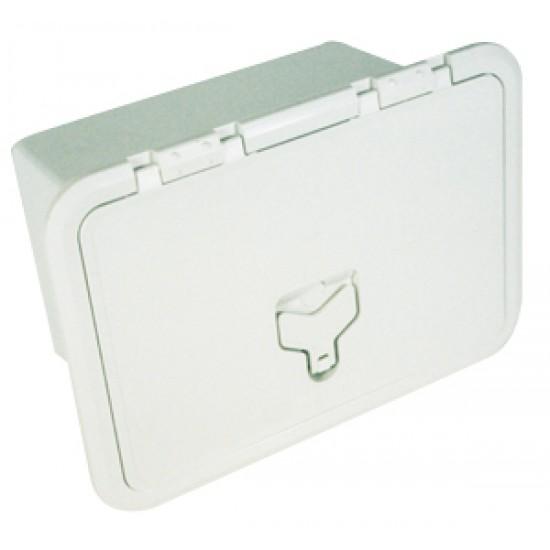 Cajón Empotrable Blanco 275 x 375 mm con cerradura