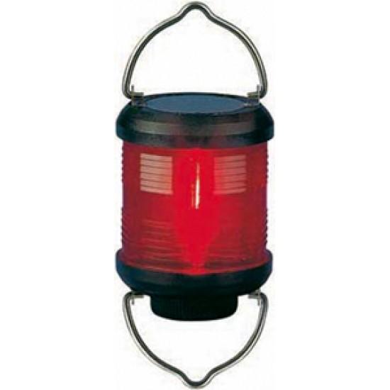 Luz de Navegacion S55, carcasa negra, señal roja, para colgar