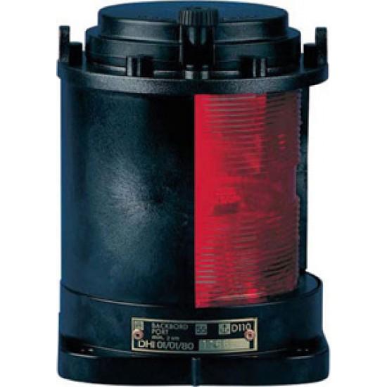 Luz de Navegacion Aquasignal S55 Carcasa negra señal babor