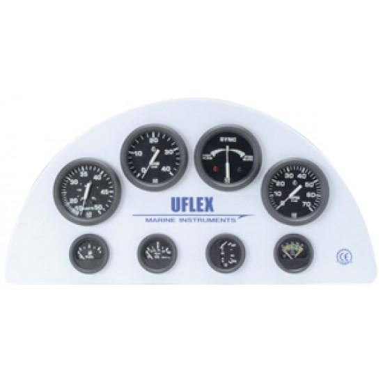 Reloj Amperimetro Negro Uflex  60-0-60 , 53 mm