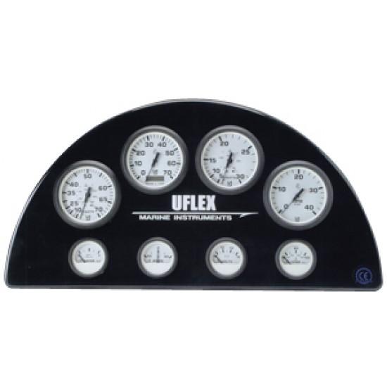 Reloj Amperimetro 60-0-60 Blanco UFLEX 53 mm