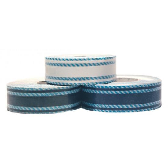 Cinta adhesiva tres tiras 45 mm x 50 mt azul claro