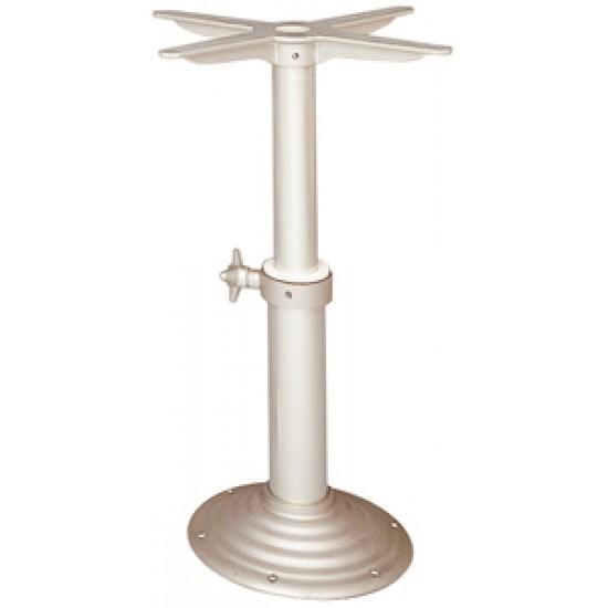 Pedestal en Aluminio para Mesas. Base no empotrable. Ajustable 550 - 780 mm