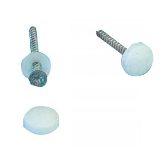Pack 100 Tapas Nauticas blancas para cabeza de tornillos 4.8 mm