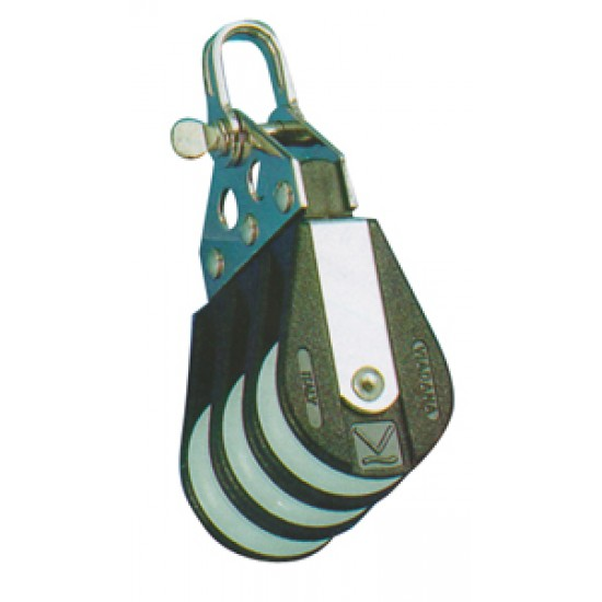 Polea Viadana Triple para cabo 10 mm