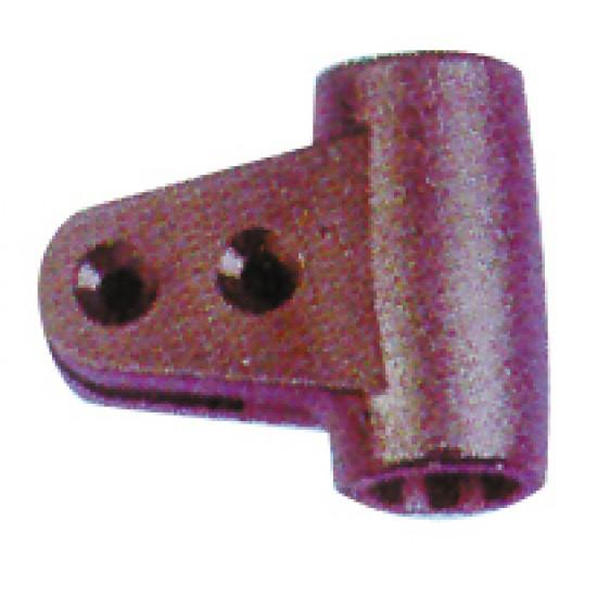 Abrazadera Bimini articulacion negra tubo 20mm