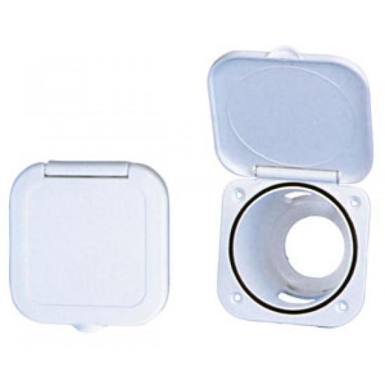Cajon empotrable en PVC para Selector Náutico Cromado para Agua Fria o Agua Caliente