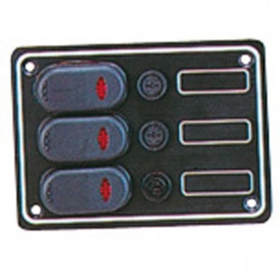 Cuadro Electrico con tres interruptores Rocker