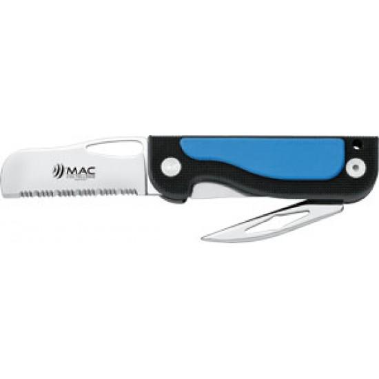 Cuchillo INOX con abregrilletes y abridor 180 mm MAGELLANO