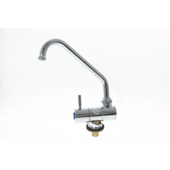 Grifo cromado abatible y giratorio para agua fria