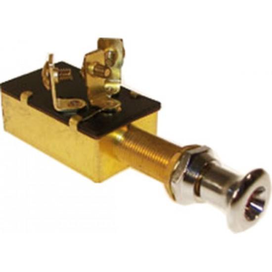 Interruptor pulsador marino Off-On-On 12v x 20amp